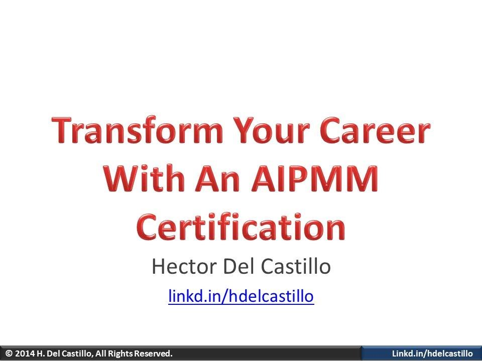 Transform Your Career With An Aipmm Certification Youtube