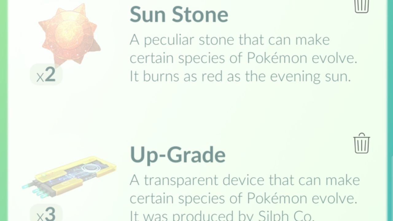 pokemon go how to get new items