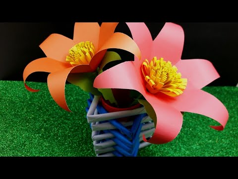 DIY | Awesome idea with Tissue Paper Roll | Crafting with Color Paper  | Paper Flower