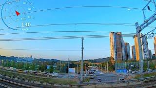 4Kᵁᴴᴰ   Railway. South Korea from the G-Train window view / Южная Корея из окна поезда Асан - Сувон