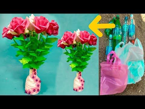 Repeat Cara Membuat Bunga Mawar Dari Botol Plastik Bekas Dan Kresek