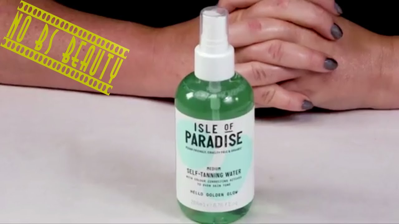 44d454328daa ISLE OF PARADISE 🆕 Self-Tanning Water Review - YouTube