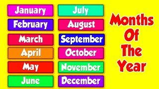 Months Of The Year | Learning Videos For Toddlers