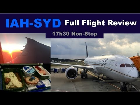 UNITED HOUSTON TO SYDNEY FLIGHT REPORT   17h30   787-9   NEW ULTRA-LONG-HAUL ROUTE