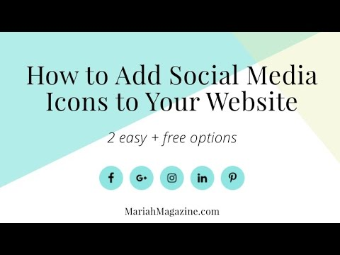 How To Add Social Media Icons To Your WordPress Website