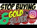 Why you should stop buying silver bullion from Instagram!