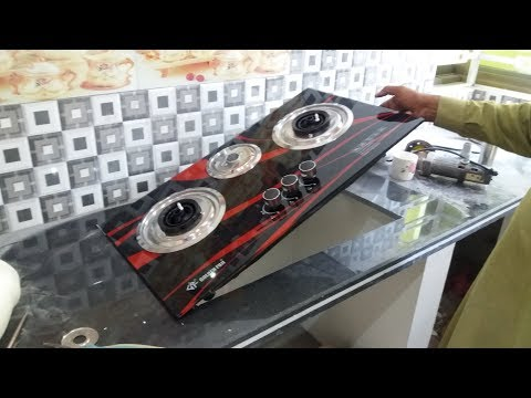 how to install gas stove][ kitchen stove installation with outside cylinder