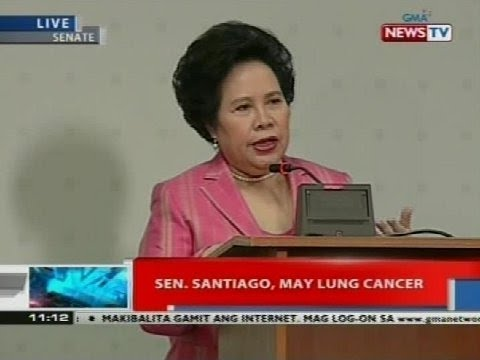 NTVL: Sen. Miriam Santiago, may lung cancer