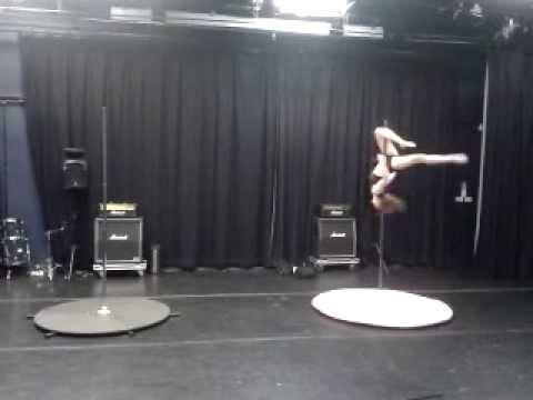 Paula Bines - Crawley's Got Talent Freestyle Pole Dance Audition 2013