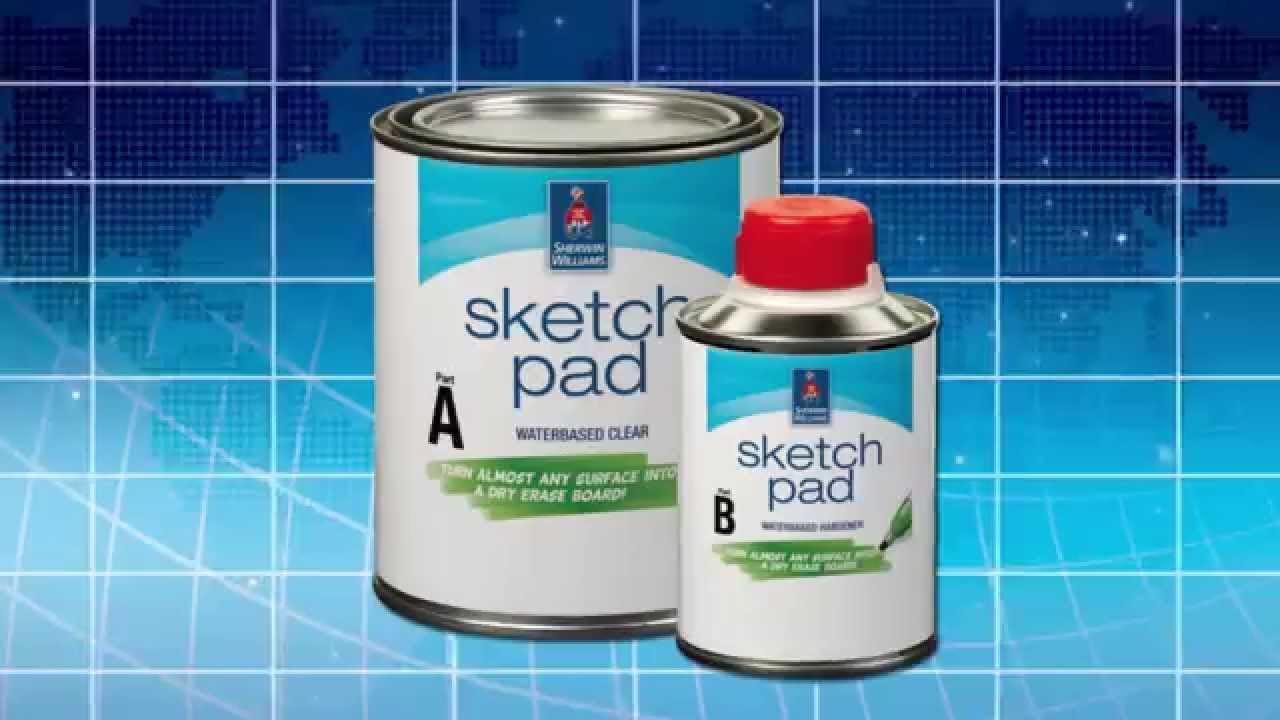 Sketch Pad Dry Erase Clear Coat Sherwin Williams