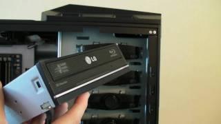 PC Build Series - Video 6 - Installing LG BluRay Drive & Samsung SATA Hard Drives
