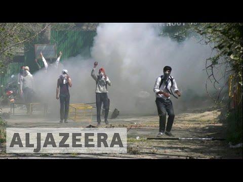 Kashmir unrest: Students protest despite university shutdown