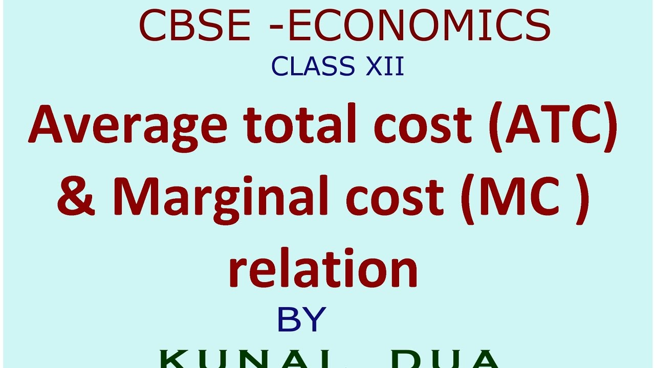difference between marginal cost and average total cost