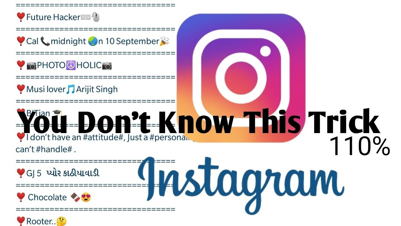 How To Write Long Bio In Instagram New Trick People Dont Know