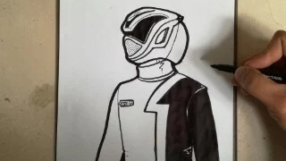 HOW TO DRAW POWER RANGER S.P.D. - RED / como dibujar power ranger s.p.d. - rojo