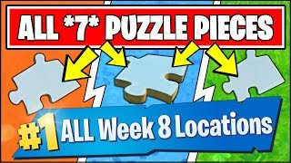 SEARCH JIGSAW PUZZLE PIECES UNDER BRIDGES AND IN CAVES *ALL LOCATIONS* Fortnite Week 8 Challenges