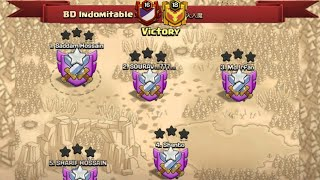 We Are BD Indomitable And We Just Showed you Our Skills | Fair Play Clan War Clash Of Clans
