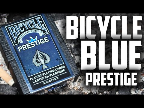 Deck Review - Bicycle Prestige Dura-Flex Blue Edition [HD]