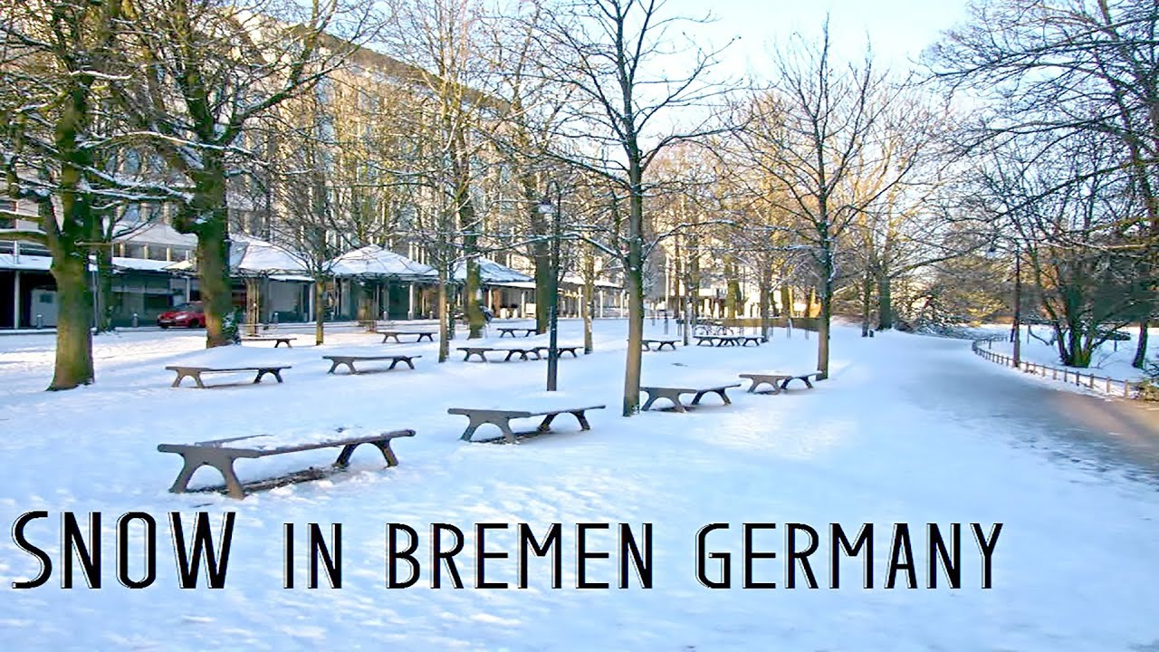 snow in bremen germany youtube. Black Bedroom Furniture Sets. Home Design Ideas