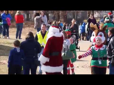 Santa Claus Arrives by Helicopter At Bedford Heights Elementary School