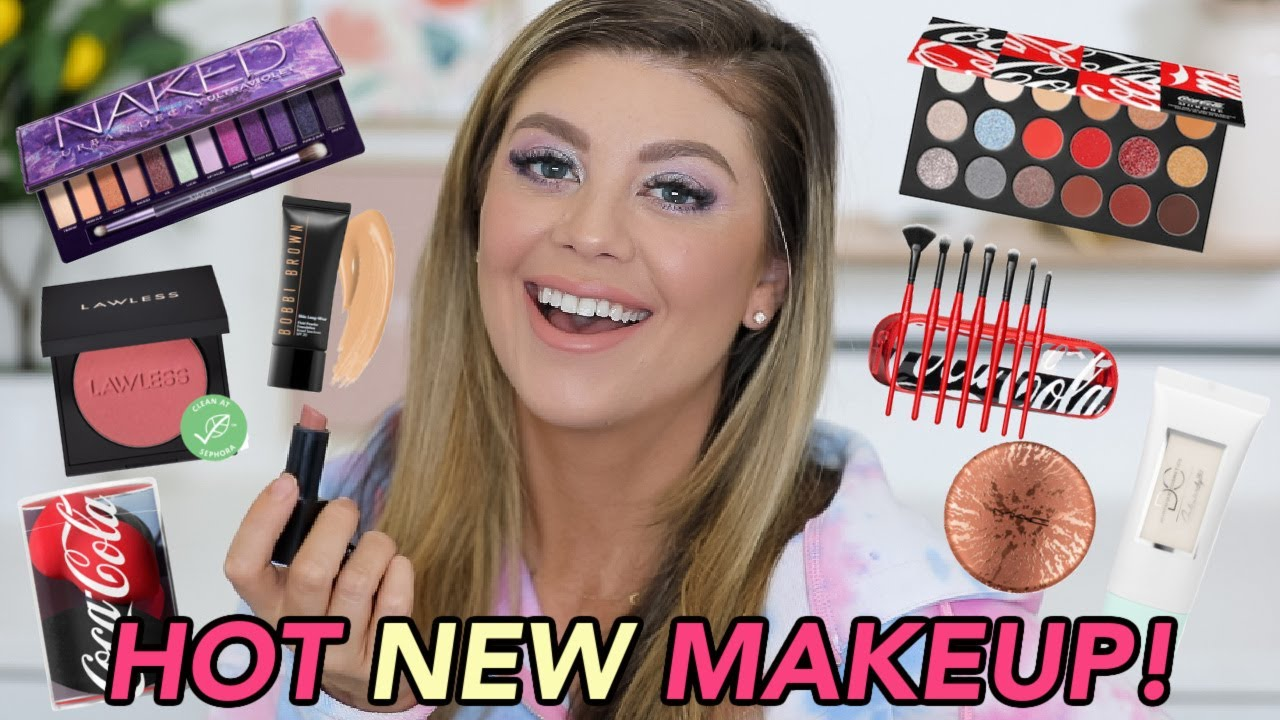 TESTING HOT NEW MAKEUP LAUNCHES!   MORPHE X COCO COLA, URBAN DECAY VIOLET, LAWLESS & MORE!