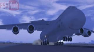 FSX - Area 51 C-5 Galaxy Landing