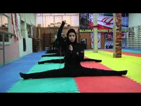 Iran's female ninjas in training | Channel 4 News