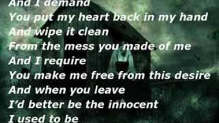 i want my innocence back lyrics