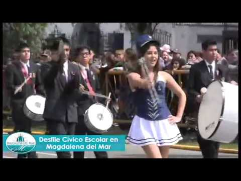 Desfile Civico Escolar por el 141 Aniversario de Magdalena