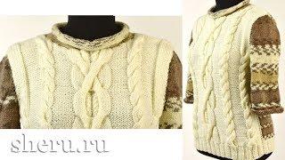 Красивый и удобный свитер спицами Урок 109 часть 2 из 2.