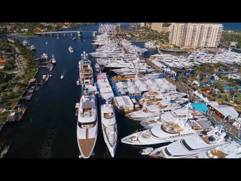 Bird eye view Fort Lauderdale Boat Show 2017