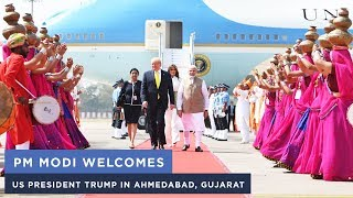 PM Modi welcomes US President Trump in Ahmedabad, Gujarat thumbnail
