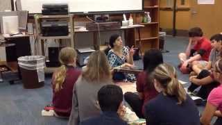 Indian classical music demo at Seabrook Intermediate School by Prema Bhat