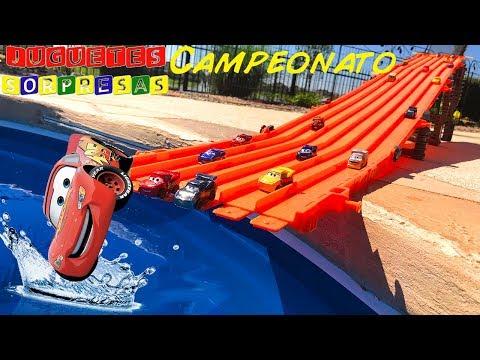 Carros de Carrera para niños - Pista de Coches CARS 3 CAMPEONATO CIRCUITO SUPER 6-LANE SPEEDWAY