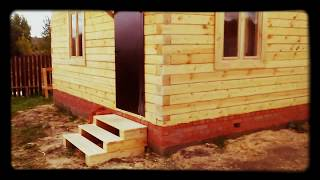 Дом 6 на 6 из бруса / Дача 6х6 с мансардой(Обзор построенного дачного 6 на 6 дома из бруса с мансардой. Строительство дачи под ключ за 10 дней. http://www.masterda..., 2015-08-17T19:04:35.000Z)