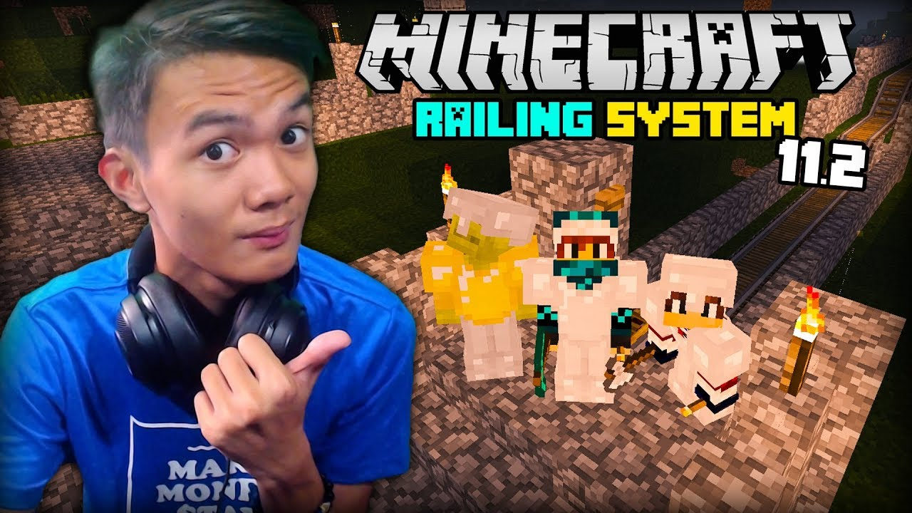 RAILING SYSTEM | Minecraft (Survival) - Part 11.2