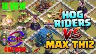 HOG RIDERS vs MAX TOWN HALL 12 Hogs war attck / TH12 3 Star Attack Strategy / Clash of Clans