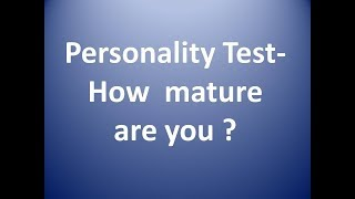 personality test questions