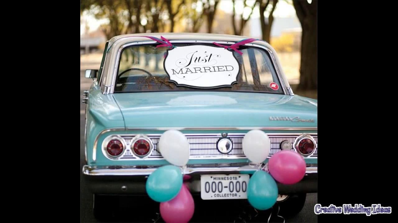 Simple Diy Wedding Car Decor Youtube