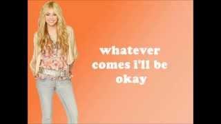 Hannah Montana/Miley Cyrus - Que Sera Lyrics