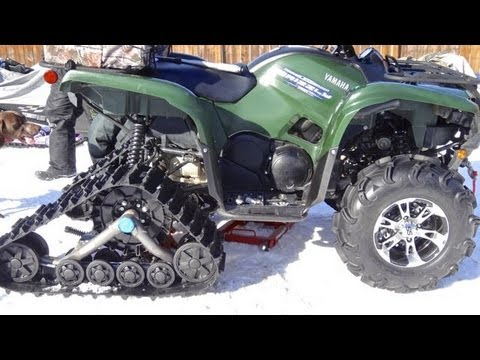 Camoplast Tatou T4S Track Install On Yamaha Grizzly 700 - Mar.3 2013