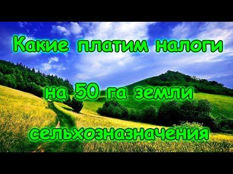 Какие у нас налоги на землю сельхоз. назначения. (01.18г.) Семья Бровченко.