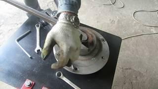 Станок для художественной ковки.(Изготовление из профильной трубы 25х25х1,5 мм большого элемента художественной ковки на станке
