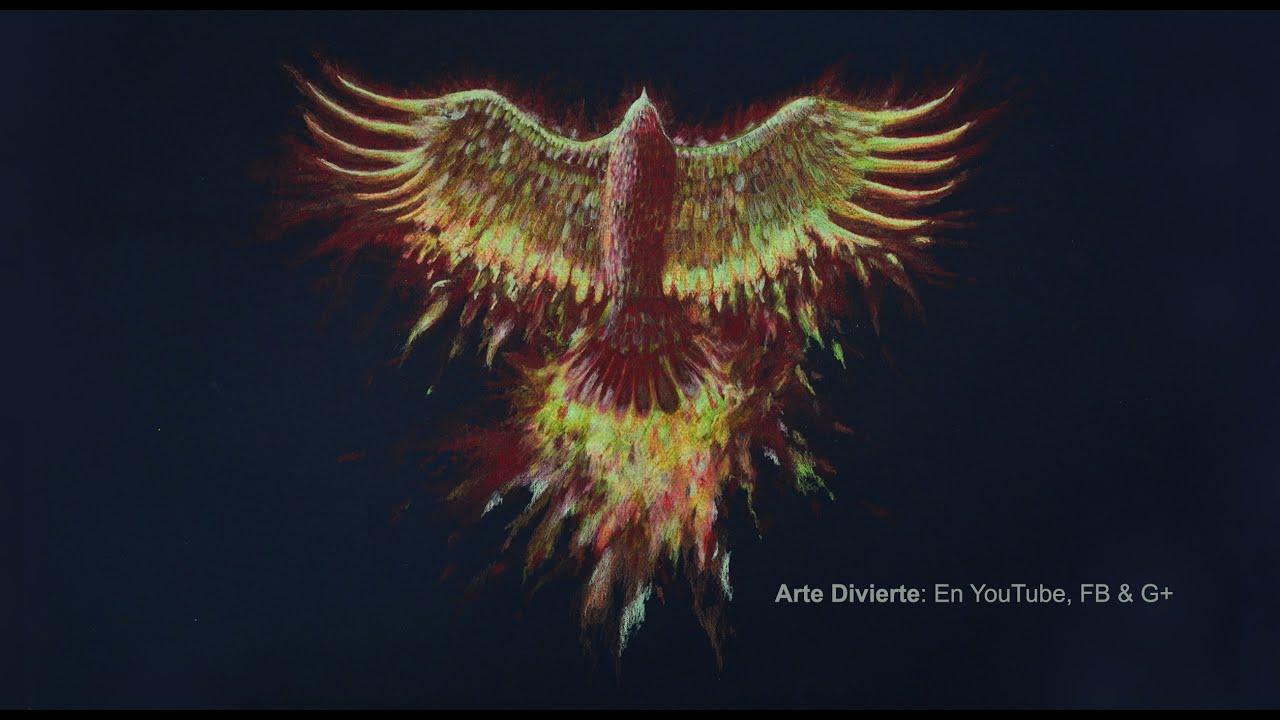 Cmo dibujar un ave Fnix con lpices de colores  Arte Divierte