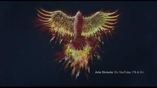Cómo dibujar un ave Fénix con lápices de colores - Arte Divierte.