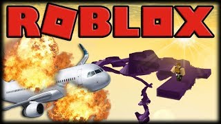 Playing Roblox-surviving airplane, gaining superpowers and saving the world!!