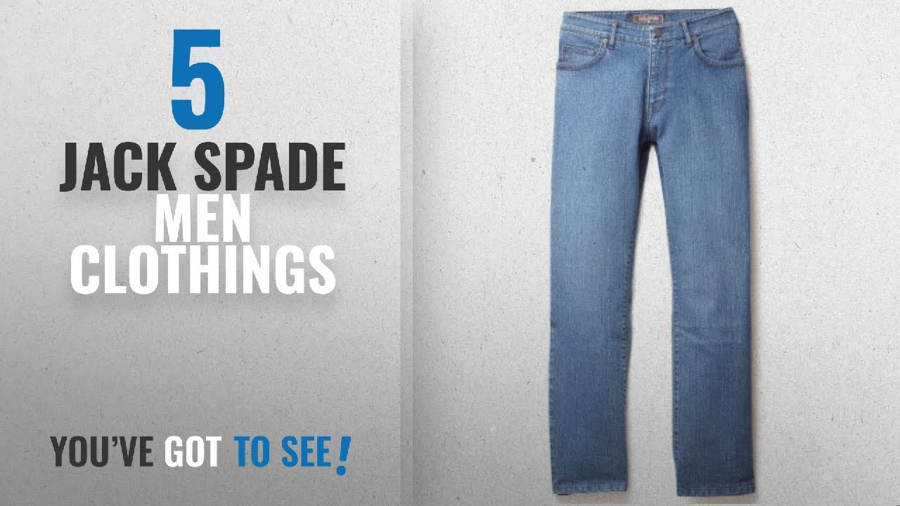 ec589fa18d Top 10 Jack Spade Men Clothings [ Winter 2018 ]: Jack Of Spades Men's High  Roller Jeans Medium Blue