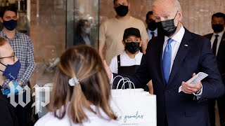 Biden visits a Mexican restaurant benefiting from the coronavirus relief fund