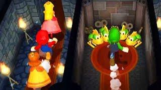 Mario Party 9 - Minigames - Mario vs Luigi vs Peach vs Daisy (Master CPU) #1