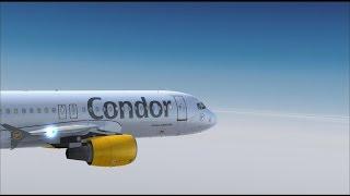 FLIGHT SIMULATOR X - Test von Mallorca X Evolution / Flug mit A320-200 der Condor nach Düsseldorf